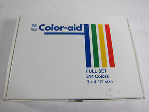 Color-Aid-Full-Set-314-Color-Swatches-3-034-x-4-5-034-New-in-Box-w-Instruction-Booklet
