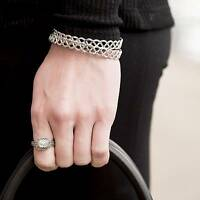 Park Lane lifestyle Bracelet - Silver Lattice Cuff Style - Orig $57 - Just In