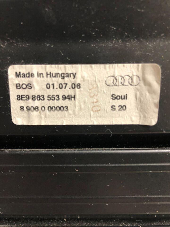 Bagagerumsdækken, AUDI