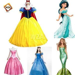 Image is loading Adult-Disney-Princess-Snow-White-Dresses-Frozen-Alice-  sc 1 st  eBay & Adult Disney Princess Snow White Dresses Frozen Alice Cosplay ...