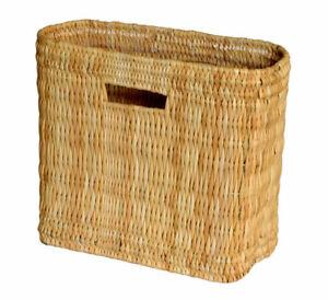 Natural-Wicker-Bulrush-Toilet-Roll-Holder-Wine-Holder-Shopping-Basket-Holder