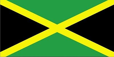 JAMAICA JAMAICAN FLAG 5FT X 3FT WITH TWO METAL EYELETS