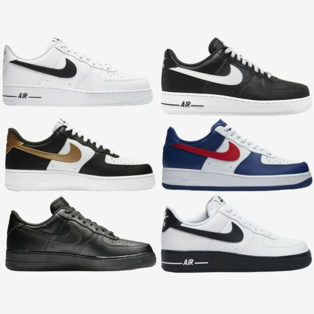 Nike Air Force 1 Low New Mens Shoes Sneakers White Black Gold Blue Red Size 8-13