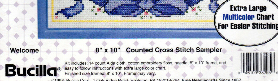 Gallery Of Stitches Counted Cross Stitch By Bucilla Kit 32372