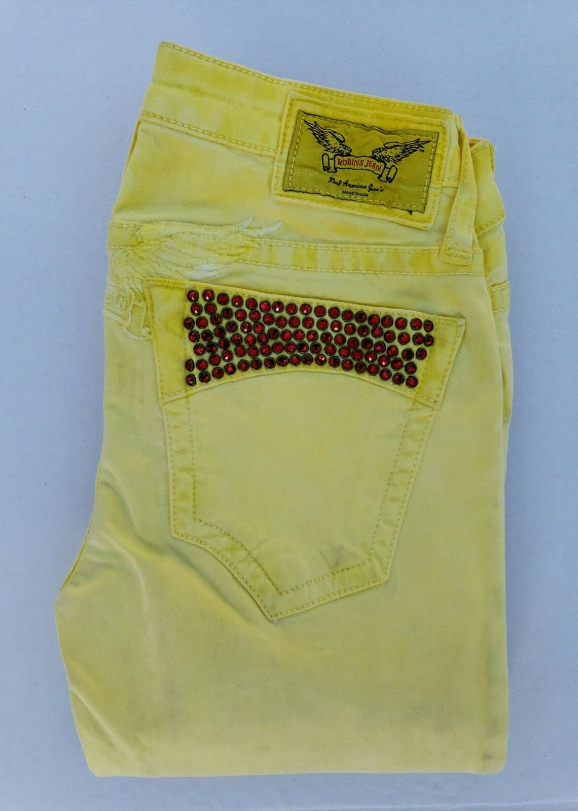 New Women's ROBIN'S JEAN sz 24  SP8857 Super Skinny Jeans with Crystals
