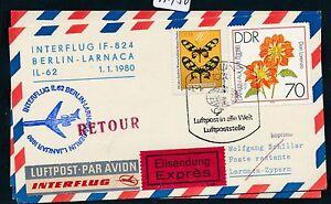 97450) Rda Coursier So-carte If Ff Berlin-paris 1.1.80, Mifflower Fleurs-afficher Le Titre D'origine DernièRe Technologie