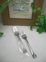 2 Oneida Gourmet Bordeaux Stainless Steel Salad Forks Free Shipping