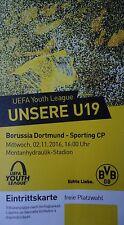 TICKET UEFA YL 2016/17 Borussia Dortmund - Sporting Lissabon