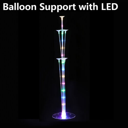 1Set LED Balloons Column Stand Plastic Balloon Support with 7 Tubes Party Decro