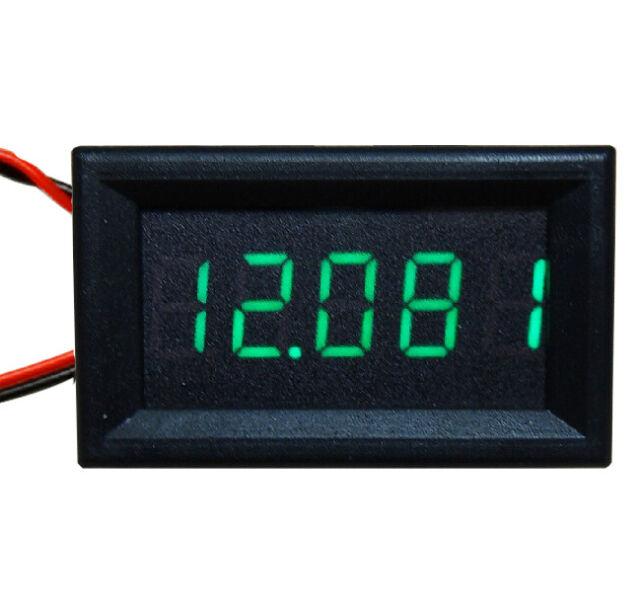1Pcs 5 Digit Green LED DC 0-4.3000-33.000V Digital Voltage Meter Panel Voltmeter