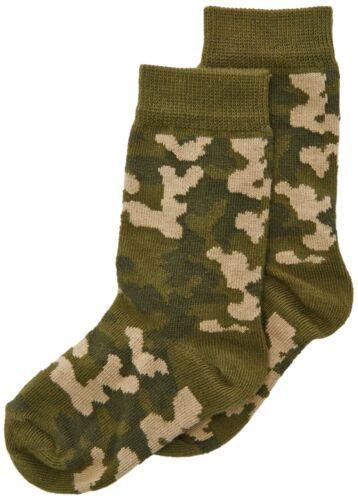 Country Kids Boy/'s Camouflage Calf Socks Green