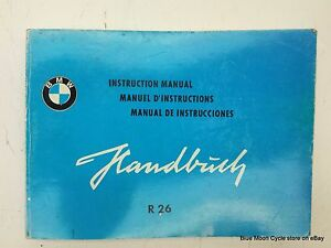 bmw r26 motorcycle instruction manual book aftermarket 62617k ebay rh ebay com bmw 325i instruction manual bmw 325i instruction manual