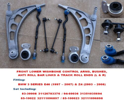 Links /& Rods Set BMW 3Series E46 Front Lower Wishbone Arms Bushes