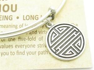 Wind-and-Fire-Shou-Silver-Charm-Wire-Bangle-Stackable-Bangle-Bracelet-USA-Gift