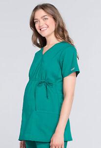 95bbff3eb84 Image is loading Hunter-Cherokee-Scrubs-Workwear-Professionals-Maternity- Mock-Wrap-