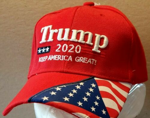 """****Trump 2020  /""""KEEP AMERICA GREAT/"""" Red Hat 3D Embroidery---BRAND NEW****"""