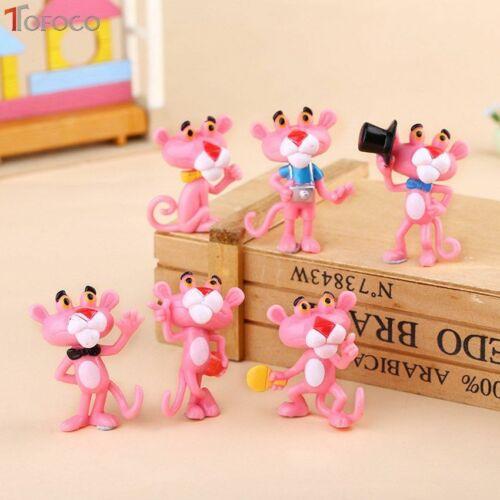 6pcs//set MINI PANTERA ROSA Action Figure Toys Carino Cartoon 4.5Cm PVC ANIM