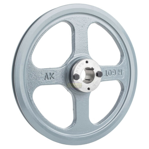 """Details about  /Cast Iron 10.75/"""" Single 1 Groove Belt A Section 4L Pulley 1-3//16 Sheave Bushing"""