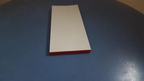 15,5 cm 200 Kellnerblöcke  Kellnerblock Notizblöcke  rot verleimt  6,2