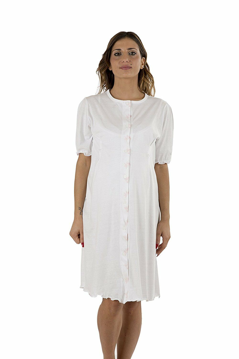 Premamy - Womens Maternity Hospital Gown - Colour  White - Size  S