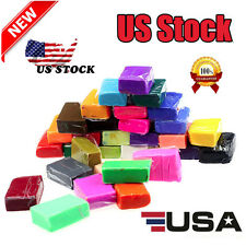 32pcs DIY Malleable Fimo Polymer Modelling Soft Clay Blocks Plasticine US Stock