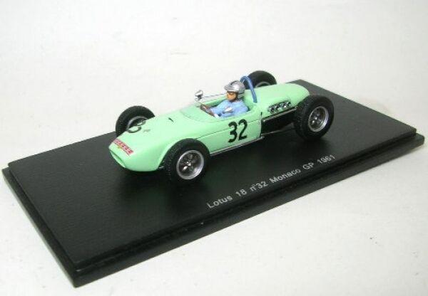 Lotus 18 No. 32 C.Allison Monaco Gp 1961