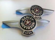 Harley Davidson Fatboy Lo Star Tank Emblems Brushed