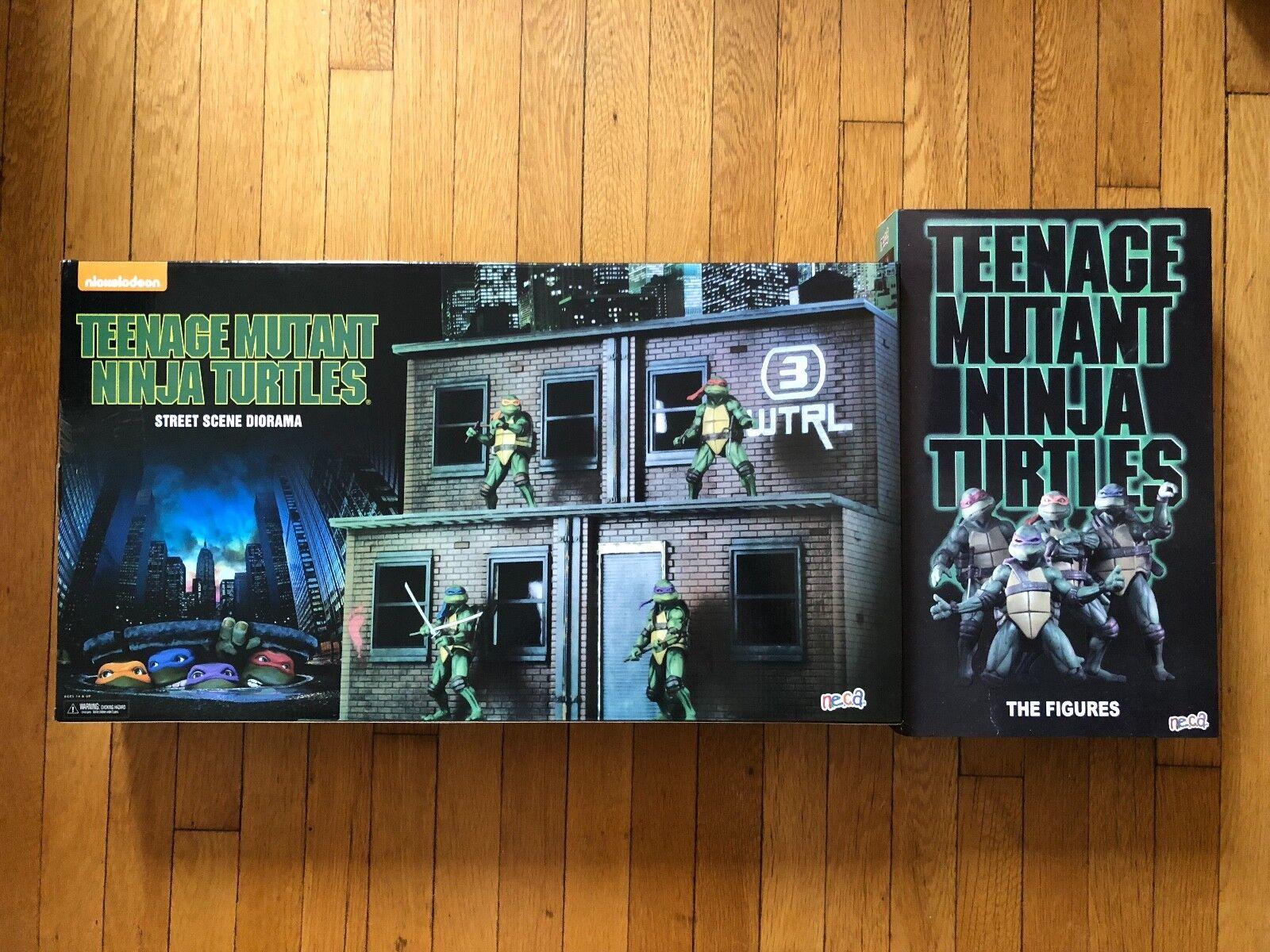 NECA SDCC 2018 Teenage Mutant Ninja Ninja Ninja Turtles TMNT Exclusive Figure Set & Diorama 2d43d4