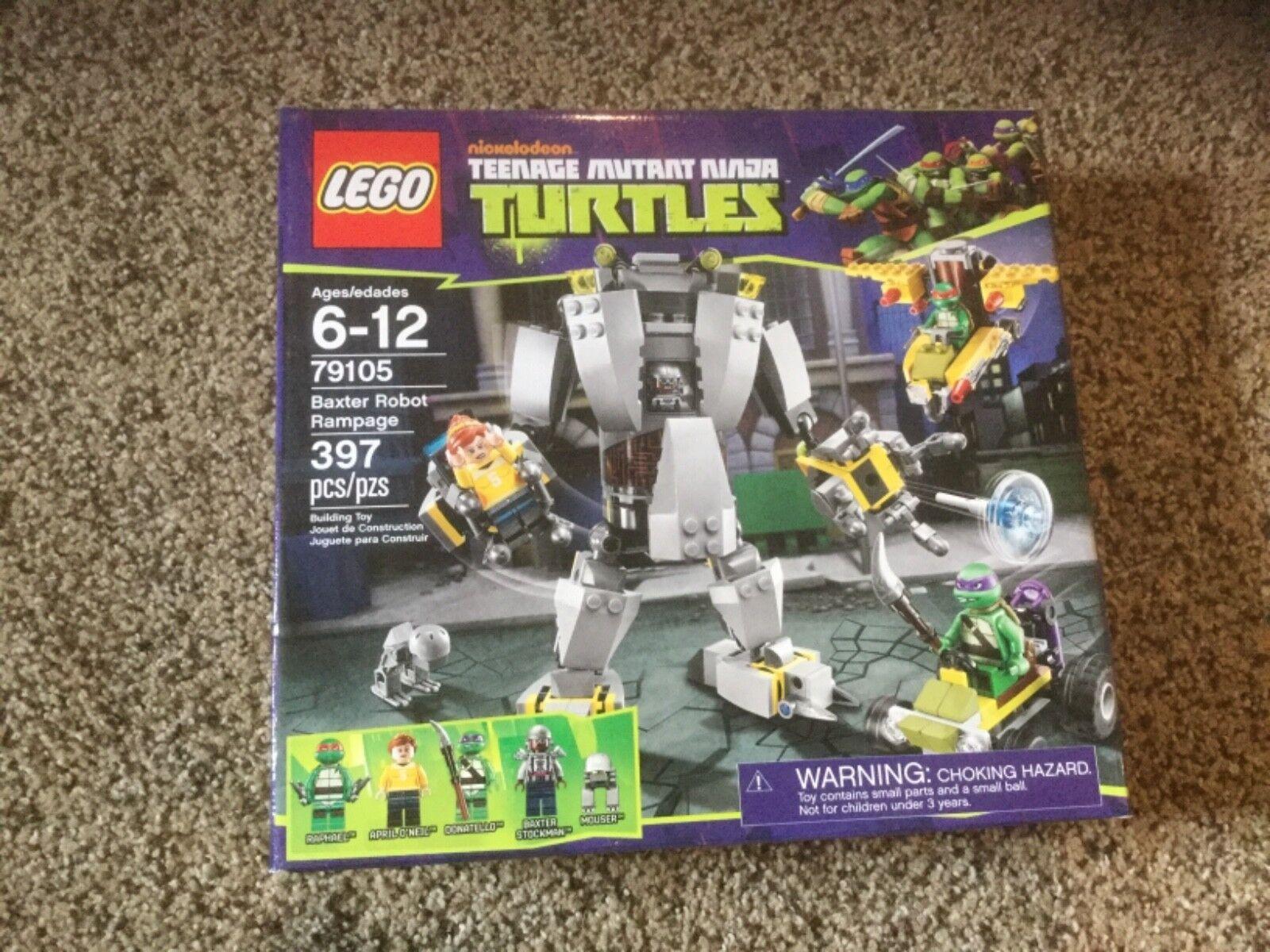NIB Lego Baxter Robot Rampage (79105) Teenage Mutent Ninja Turtles.