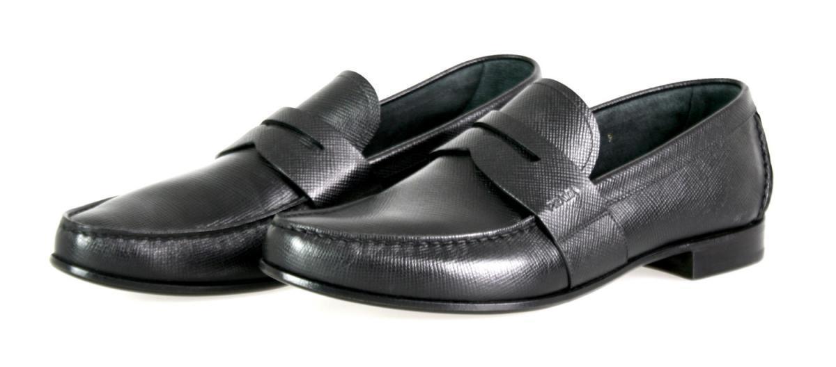 LUXURY PRADA BUSINESS LOAFER SHOES 2DA060 BLACK NEW 9 43 43,5