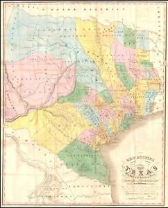 1846-General-Stephen-F-Austins-Map-of-Texas-Republic-POSTER-50626