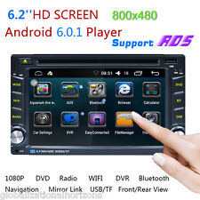 ANDROID 6.0 AUTORADIO DOPPEL 2DIN MIT NAVIGATION GPS RDS WIFI 3G USB BLUETOOTH
