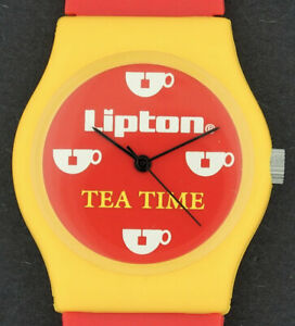 Lipton-Tea-Time-Advertising-Battery-Operated-Novelty-Character-Watch