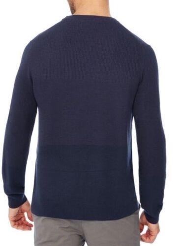 New Navy Cotton Textured Medium Mens Knit Green Jumper Racing Block 1qawgzva