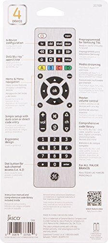 LN Brushed Nickel ™ 33709 Universal Remote Control GE 4-Device