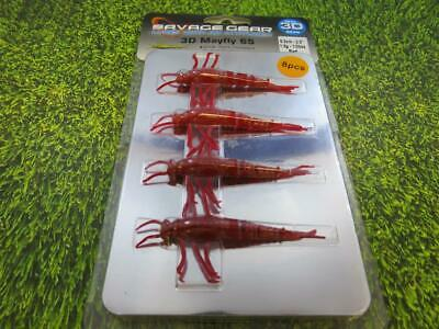 4 Savage Gear Cannibal Shad 10 cm 9 g Rouge//Yell Fluo Soft Lure Pike Perch Pêche