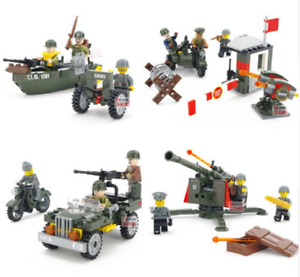 SET 4 in 1 Combat Zone Military Soldier US Army World War