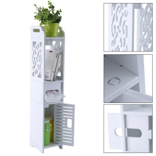 Modern Standing Shelf Units 4-Tier Bathroom Storage Closet Organizer Shelves MA