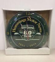 Rare Hemmings Motor News Clock 1954 - 2014 Magazine Unopened Automotive