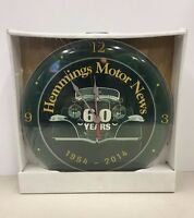 Rare Hemmings Motor News Clock 1954 - 2014 Magazine Unopened Automotive
