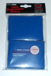 Ultra-Pro-100-Deck-Protector-BLUE-CARD-SLEEVES-for-mtg-Magic-the-Gathering-game