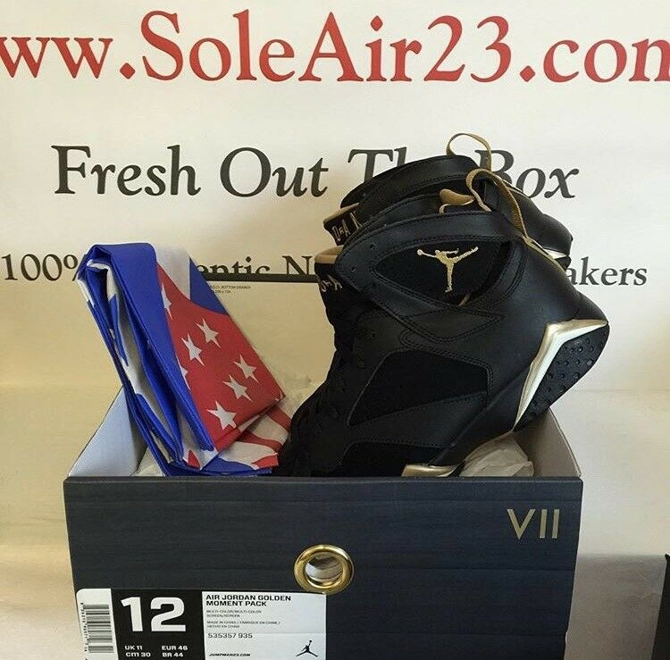 Nike Air Jordan 7 VII Retro GMP golden Moments Package 2012 Mens Size 12