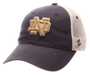 NOTRE-DAME-FIGHTIN-IRISH-NCAA-SLOUCH-TRUCKER-UNSTRUCTURED-SNAPBACK-Z-CAP-HAT-NWT