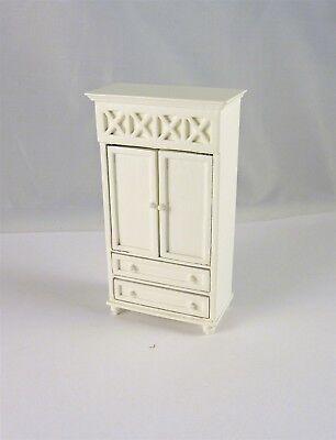 A211.5 Dollhouse Miniature HALF SCALE 1:24 White Armoire