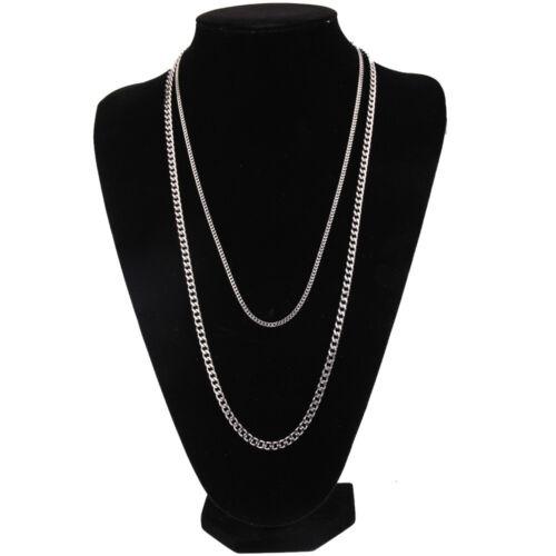 Women Men Stainless Steel Cuban Curb Link Hip Hop Chain Choker Necklace Jewelry