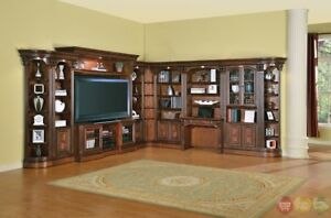 Details About Huntington Traditional Corner Library Wall Unit Entertainment Center