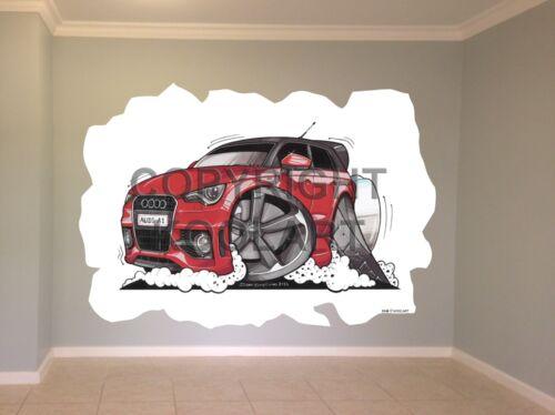 Huge Koolart Cartoon Audi A1 Wall Sticker Poster Mural 3145