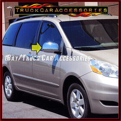 For Toyota Sienna Van 2004 05 06 07 08 09 10 Chrome Mirror Full Covers Stickover