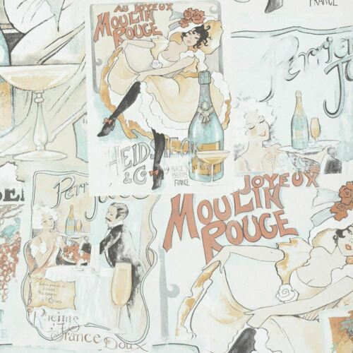 French Theme Moulin Rouge Wallpaper Paris Retro Vintage Paste The Wall Feature