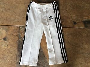 Unisex-Baby-Adidas-Tracksuit-Pants-Bottoms-White-Black-18-Months-Trackie-Jogger